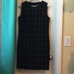 Lauren Ralph Lauren Black Grid Shift Dress